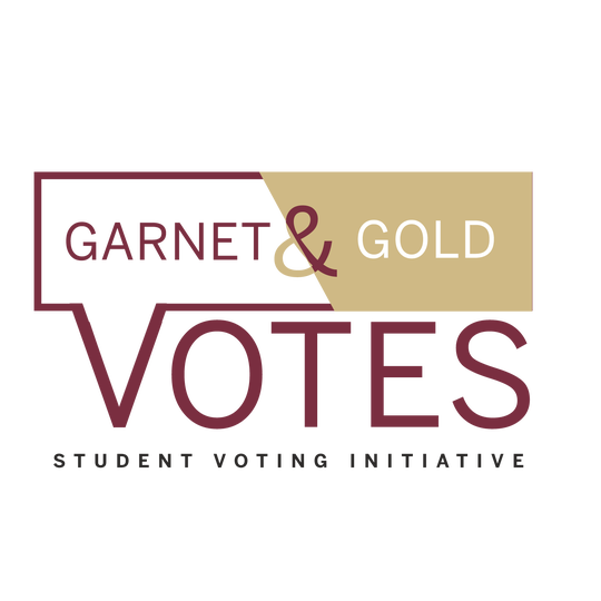 SGA is launching the Garnet and Gold Votes initiative to make voter registration and civic engagement a year-round effort.