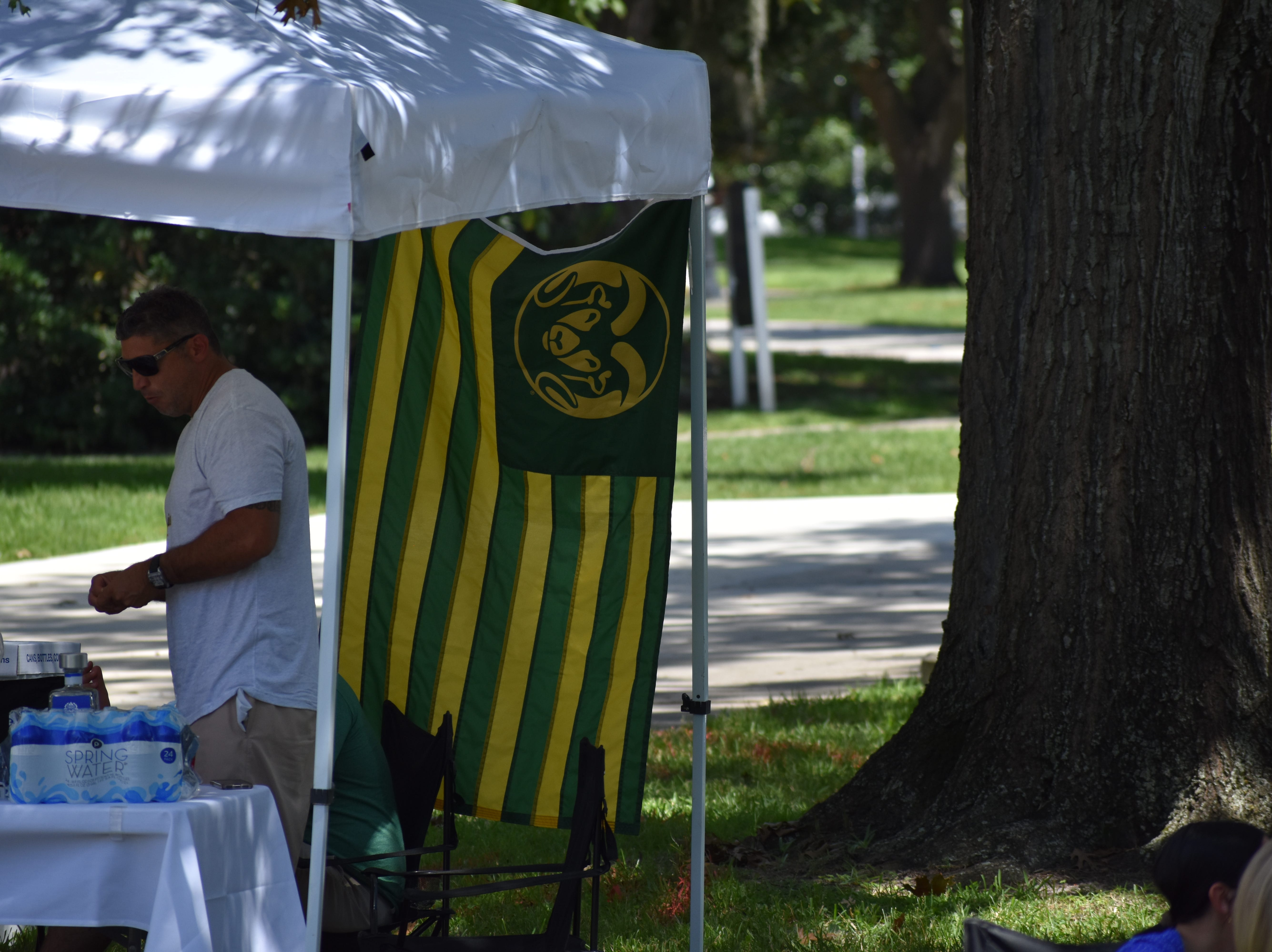 A Colorado State tailgate outside Ben Hill Griffin Stadium.