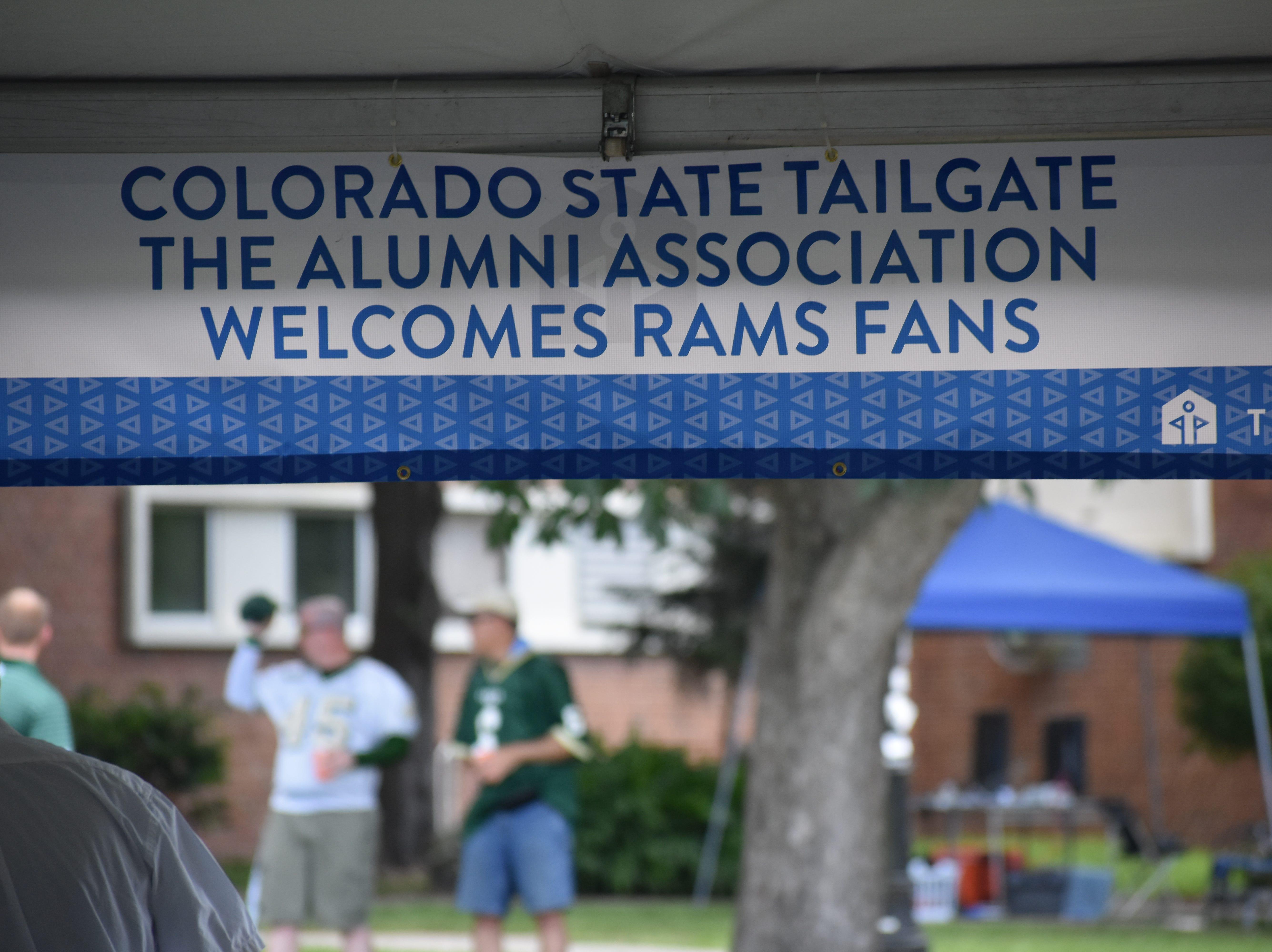 The CSU alumni association tailgate outside Ben Hill Griffin Stadium.