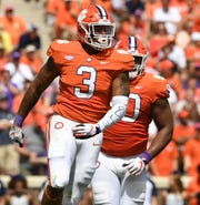 Clemson defensive lineman Xavier Thomas (3) during the 2nd quarter Saturday, September 15, 2018, at Clemson's Memorial Stadium.