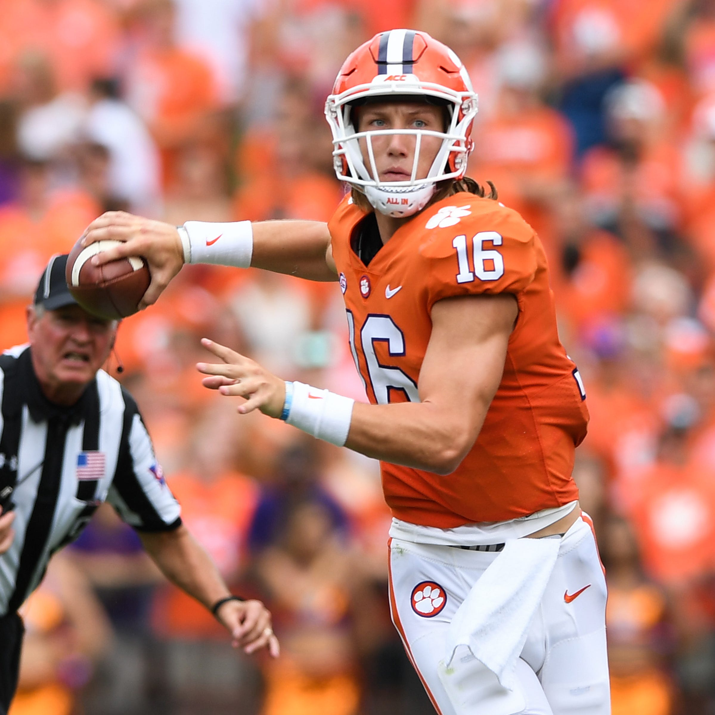 'Kind of eerie': Clemson QBs Kelly Bryant and Trevor Lawrence posting similar numbers