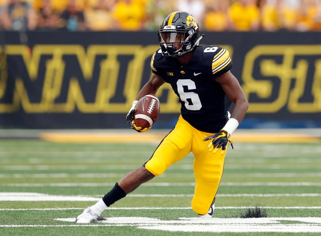 Wide receiver Ihmir Smith-Marsette (shoulder), along with running back Ivory Kelly-Martin (ankle), will miss Saturday's game versus Northern Iowa.