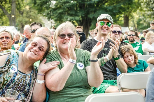 Guests watch Irish bands during the 23rd annual Indy Irish Fest at Military Park in Indianapolis on Saturday, Sept. 15, 2018.