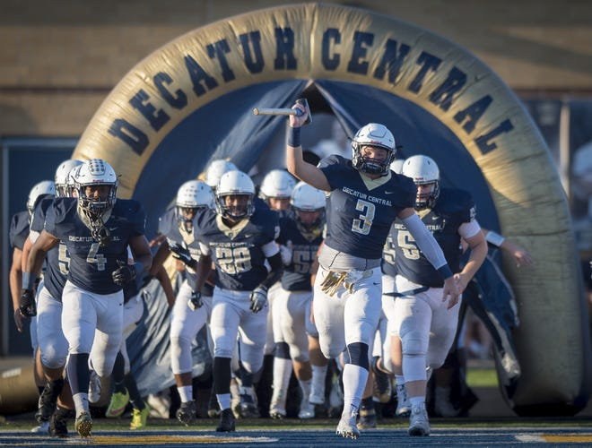 Decatur Central senior Dylan Renick (3) and the Hawks have their sights set on a sectional title Friday night.