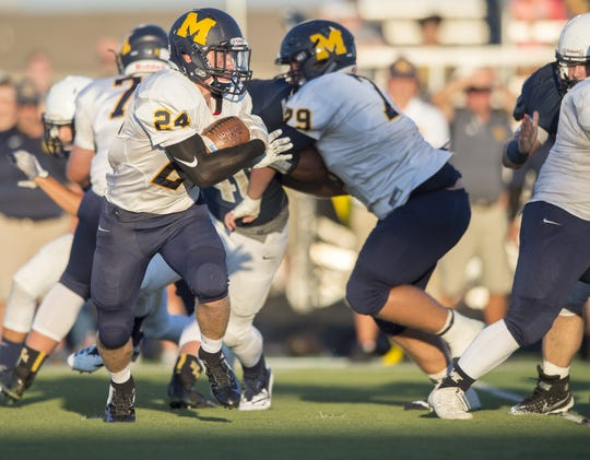 Mooresville running back James Mabry (24)