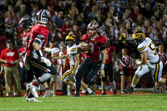 Beau Cornwell (3) has led West Branch to a 4-0 record and the No. 6 ranking in Class 1A. The Bears hit the road to play a tough Bellevue team this Friday.