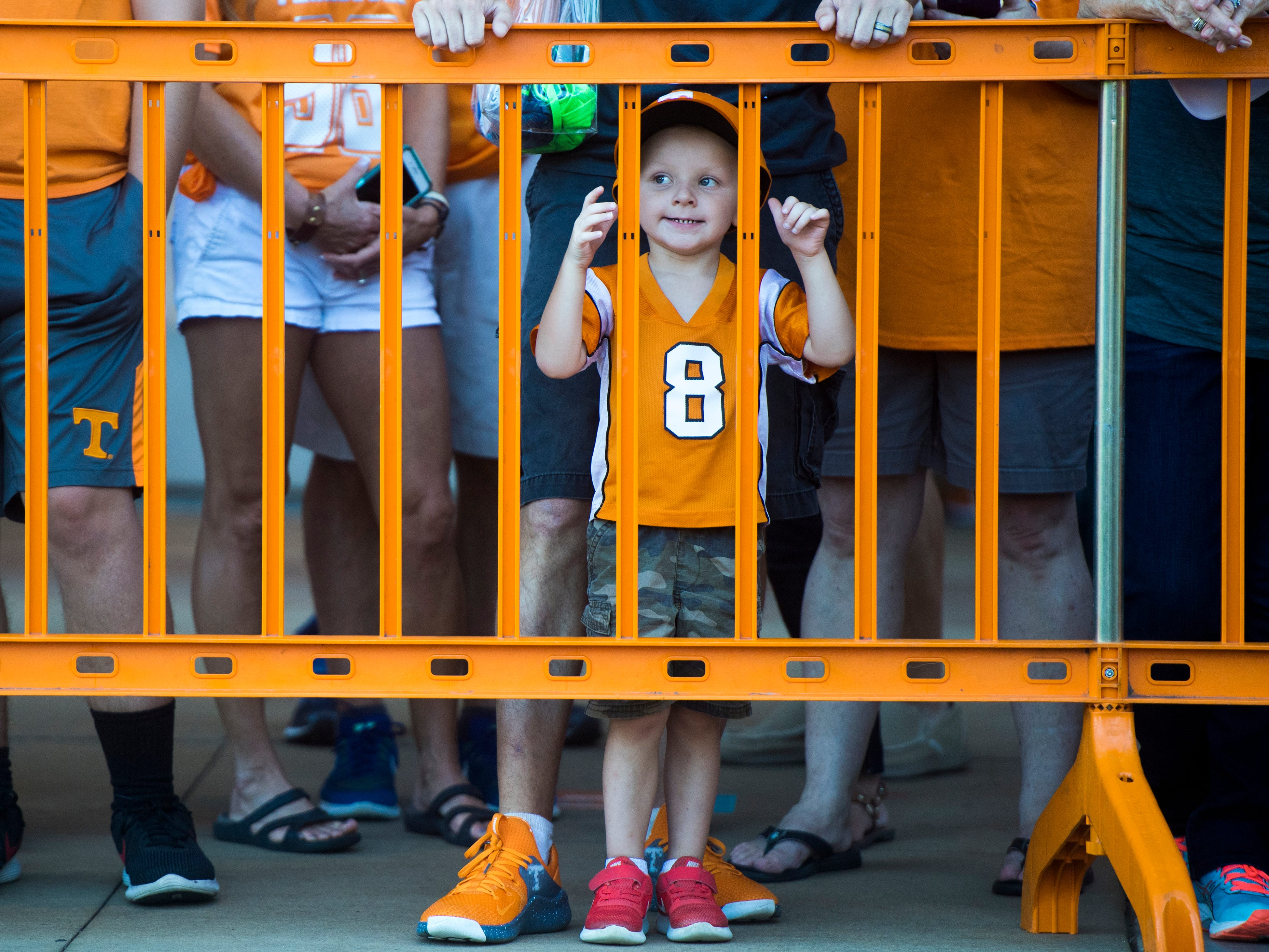 Tennessee fans wait for the Vol Walk before the Tennessee Volunteers' game against UTEP in Neyland Stadium on Saturday, Sept. 15, 2018.