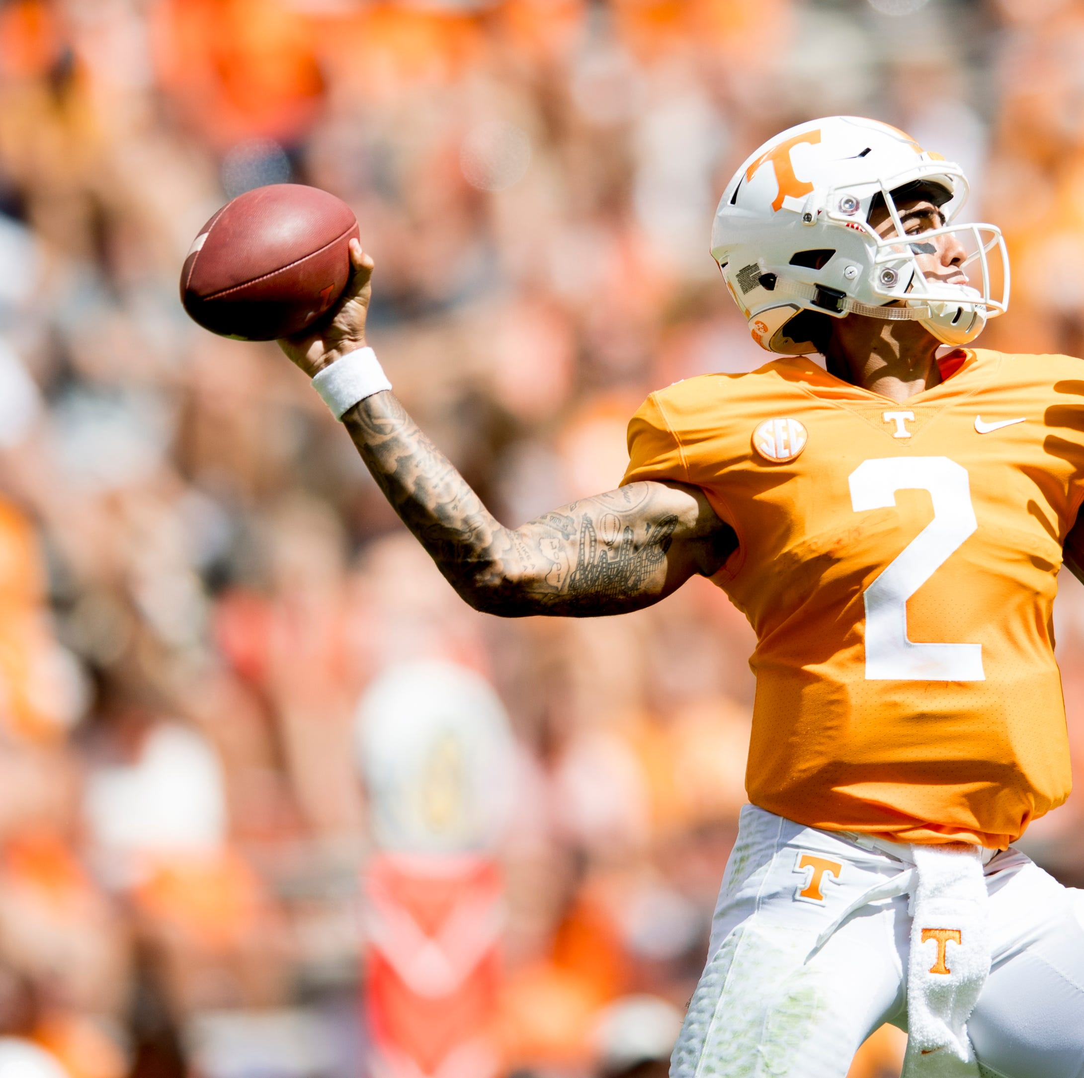 Film study: What leads to Jarrett Guarantano's deep-ball success for UT Vols?