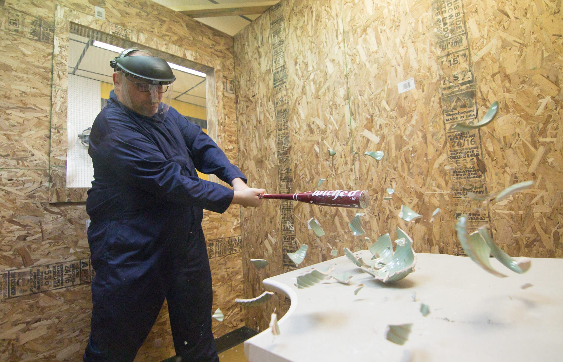New 'rage room' in Brighton Twp  an outlet for anger and