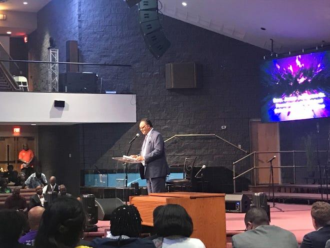 Jesse Jackson speaks Saturday at St. Stephen in Louisville. Sept. 15, 2018