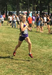 Lexington's Joanna Halfhill won the Division II high school girls race at the Galion Cross Country Festival on Saturday.
