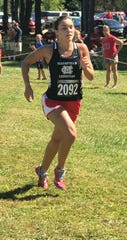 Mansfield Christian's Carolina Trumpower won the Division II and III girls high school open race at the Galion Cross Country Festival on Saturday.