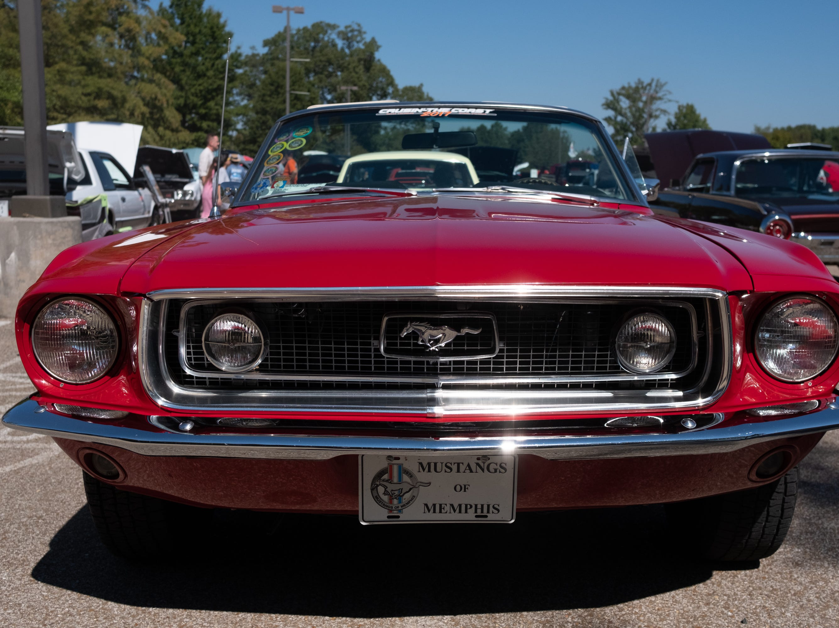Mustangs of Memphis has a strong presence at the Collierville Classic Car Show on Sept. 15, 2018.