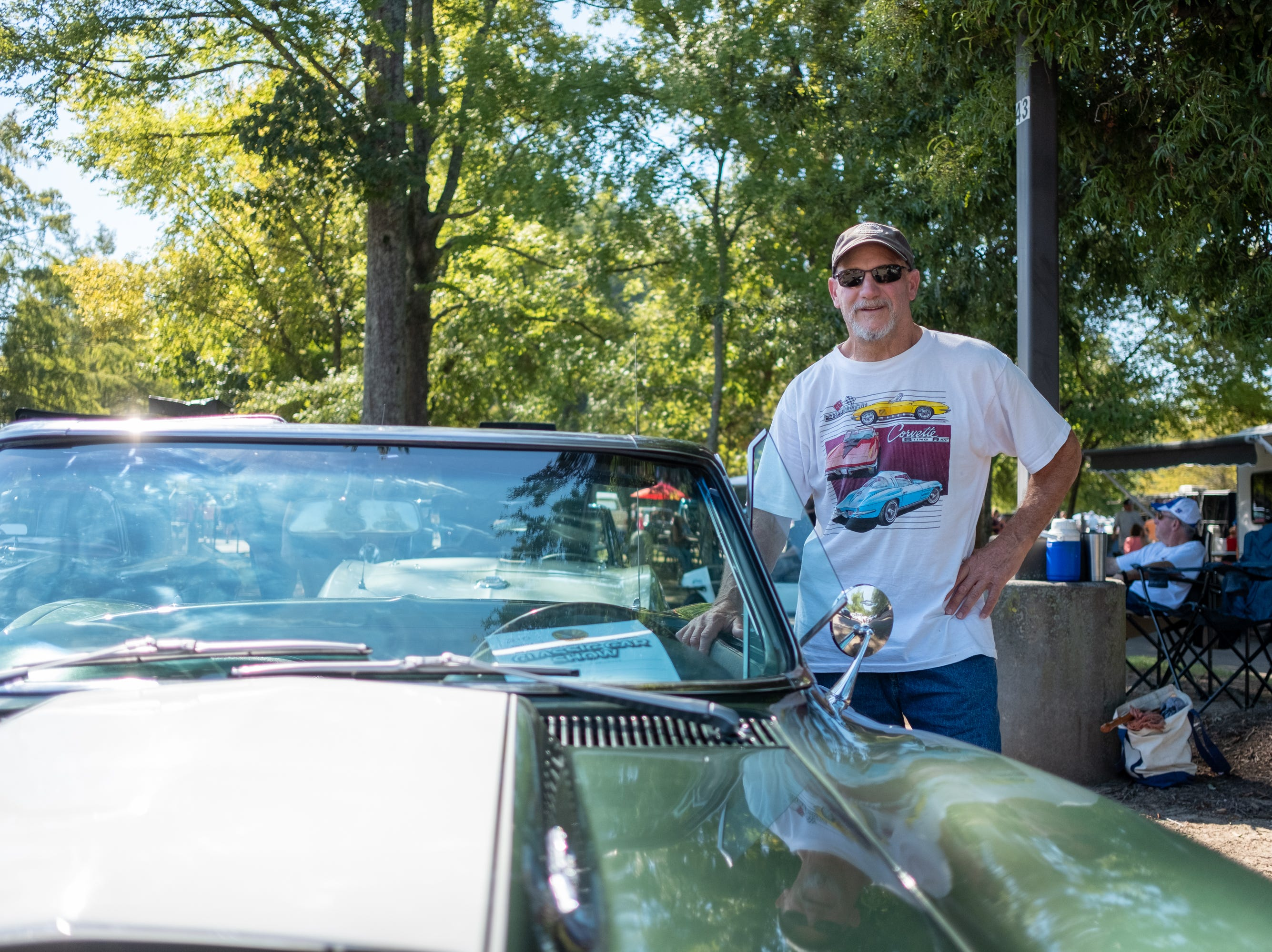 Jay Verna poses with his 1967 Corvette Stingray 427 at the Collierville Classic Car Show.