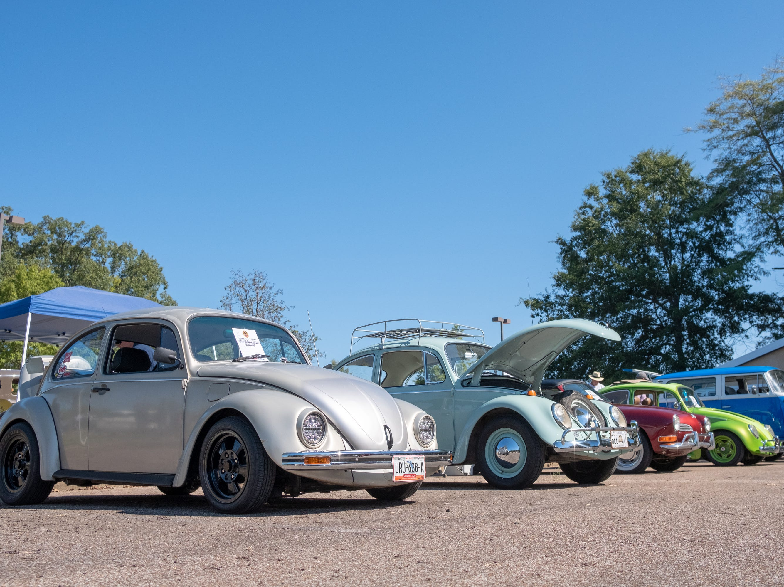 Antique VWs had their own row at the Collierville Classic Car Show on Sept. 15, 2018.