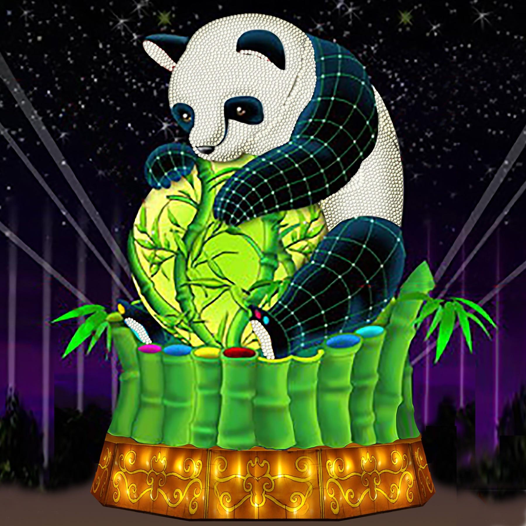 """China Lights: Panda-Mania"" concludes Sunday at Boerner Botanical Gardens."