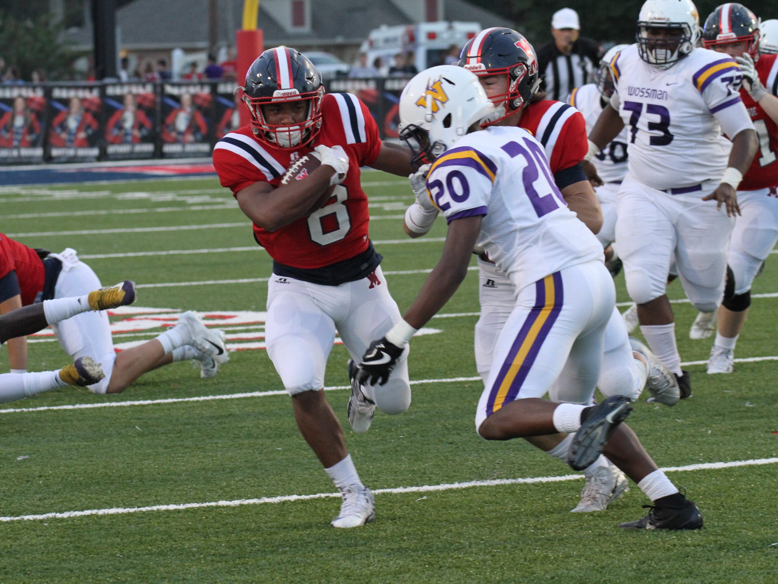 Wossman traveled to West Monroe High School on Sept. 14. West Monroe would win the game 56-14.