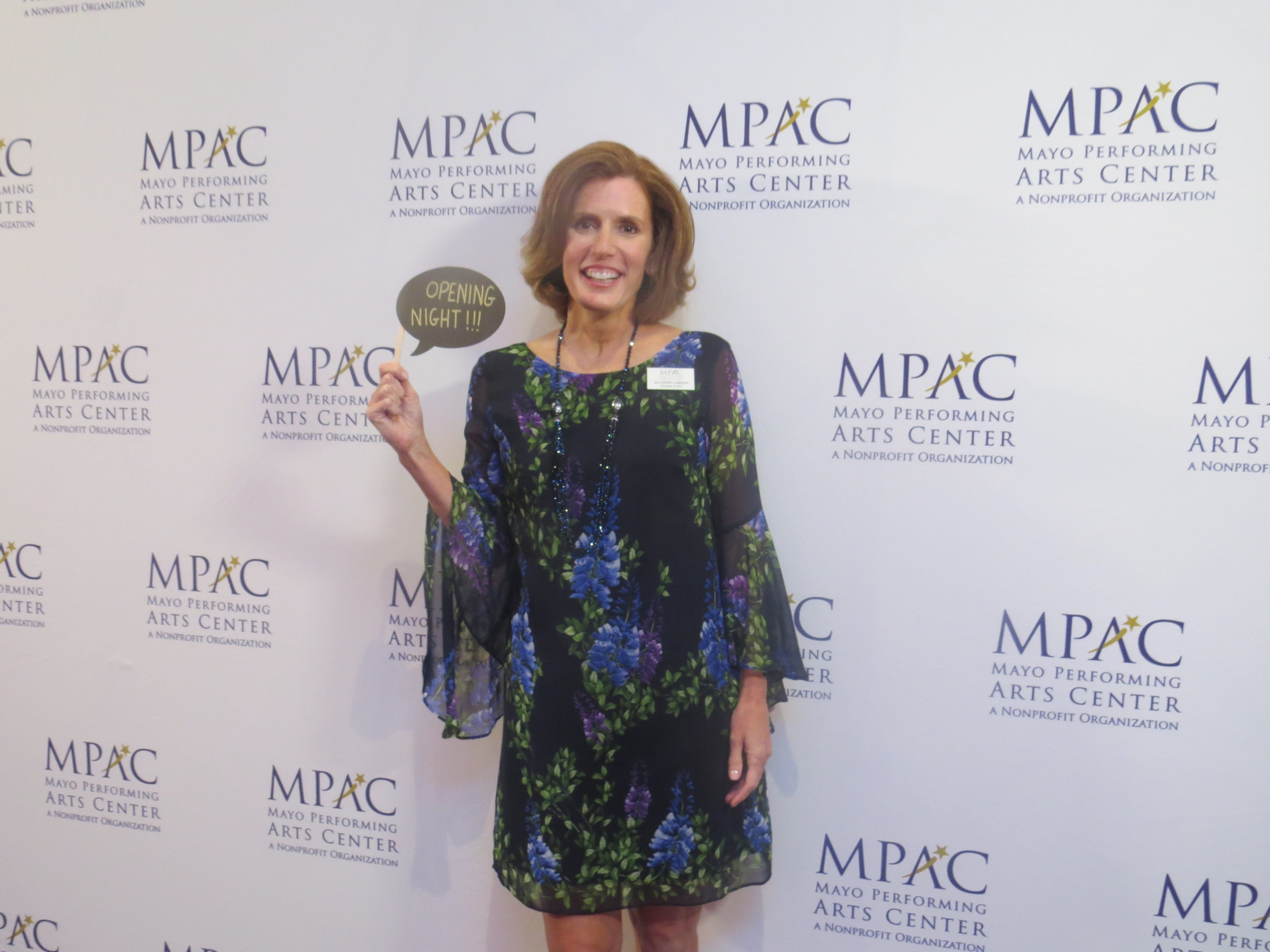 Opening night of the 2018-19 season at the Mayo Performing Arts Center in Morristown: MPAC President-CEO Allison Larena.