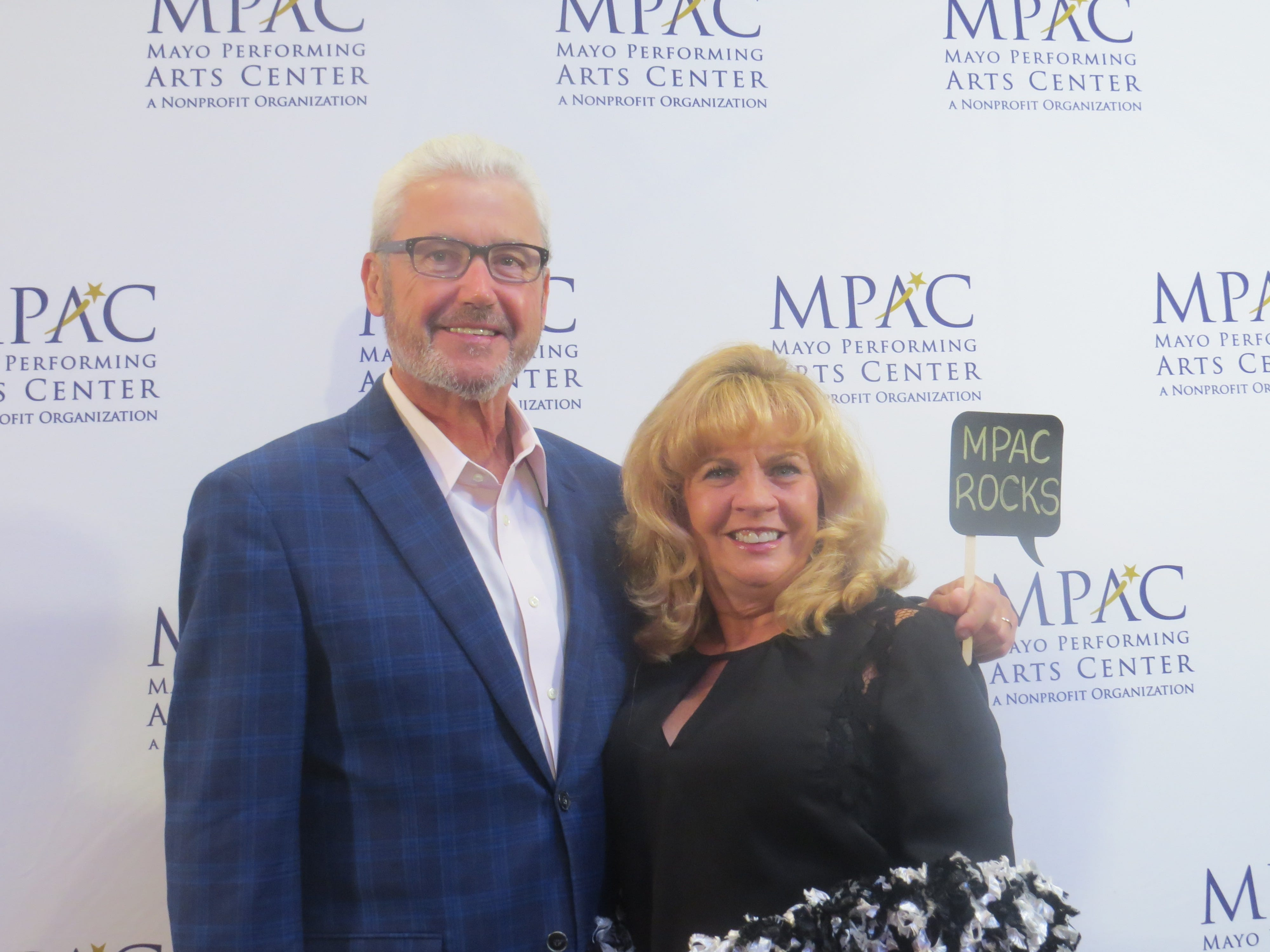 Opening night of the 2018-19 season at the Mayo Performing Arts Center in Morristown: Morristown Mayor Timothy Dougherty and his wife, Mary.