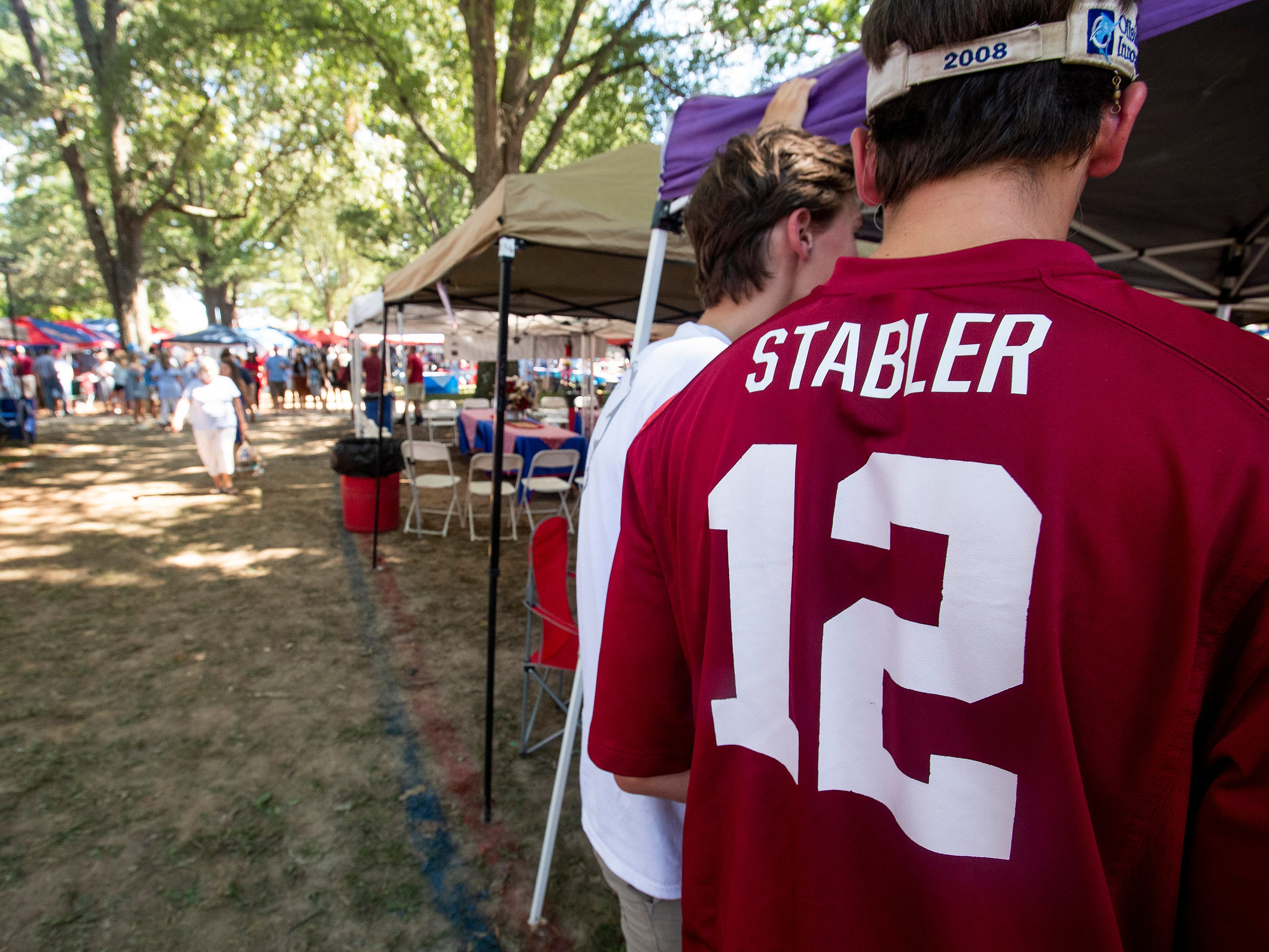 Alabama fans tailgate at The Grove on the Ole Miss campus in Oxford, Ms., on Saturday September 15, 2018.