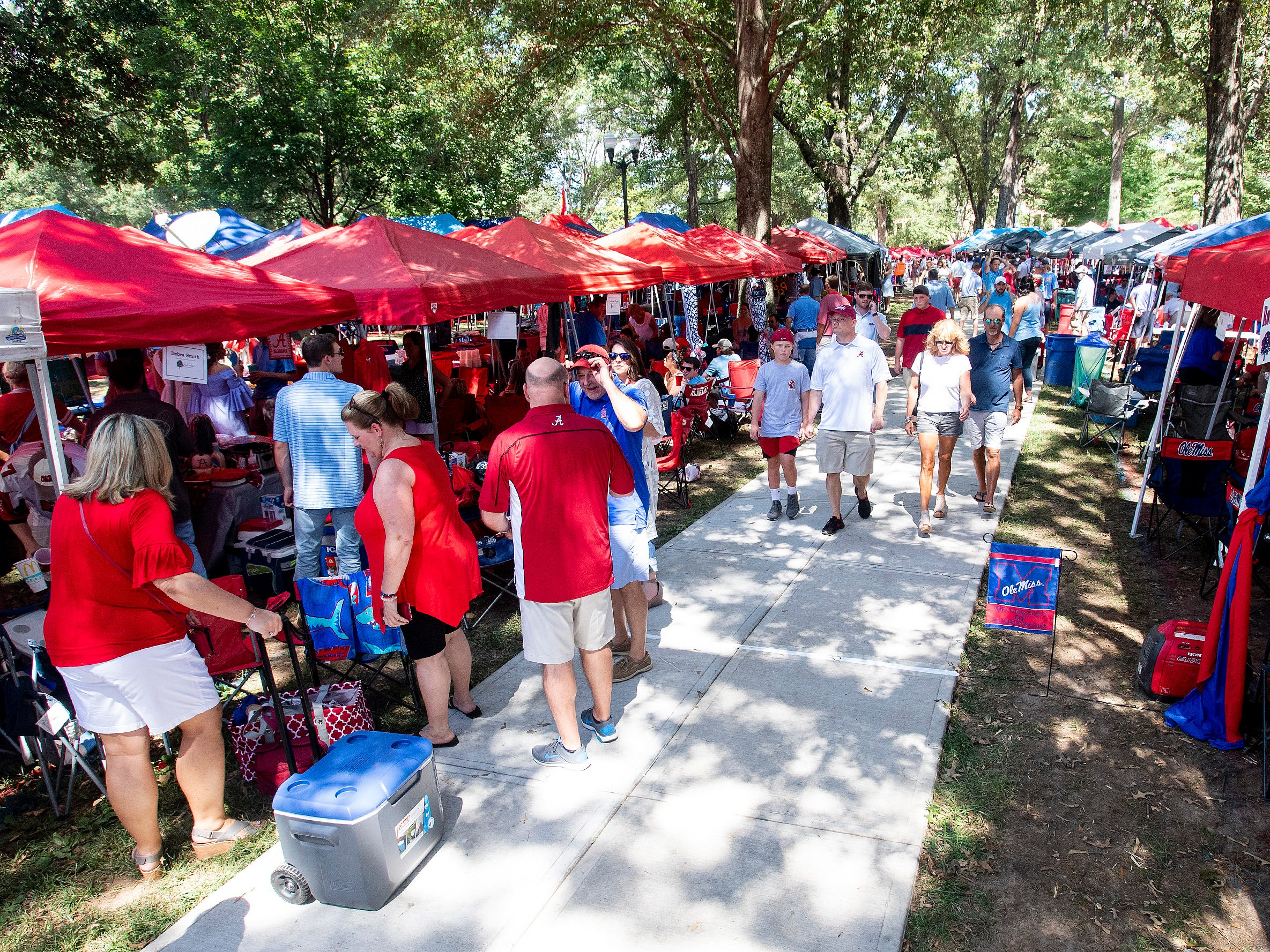 Tailgating on The Grove on the Ole Miss campus in Oxford, Ms., on Saturday September 15, 2018.