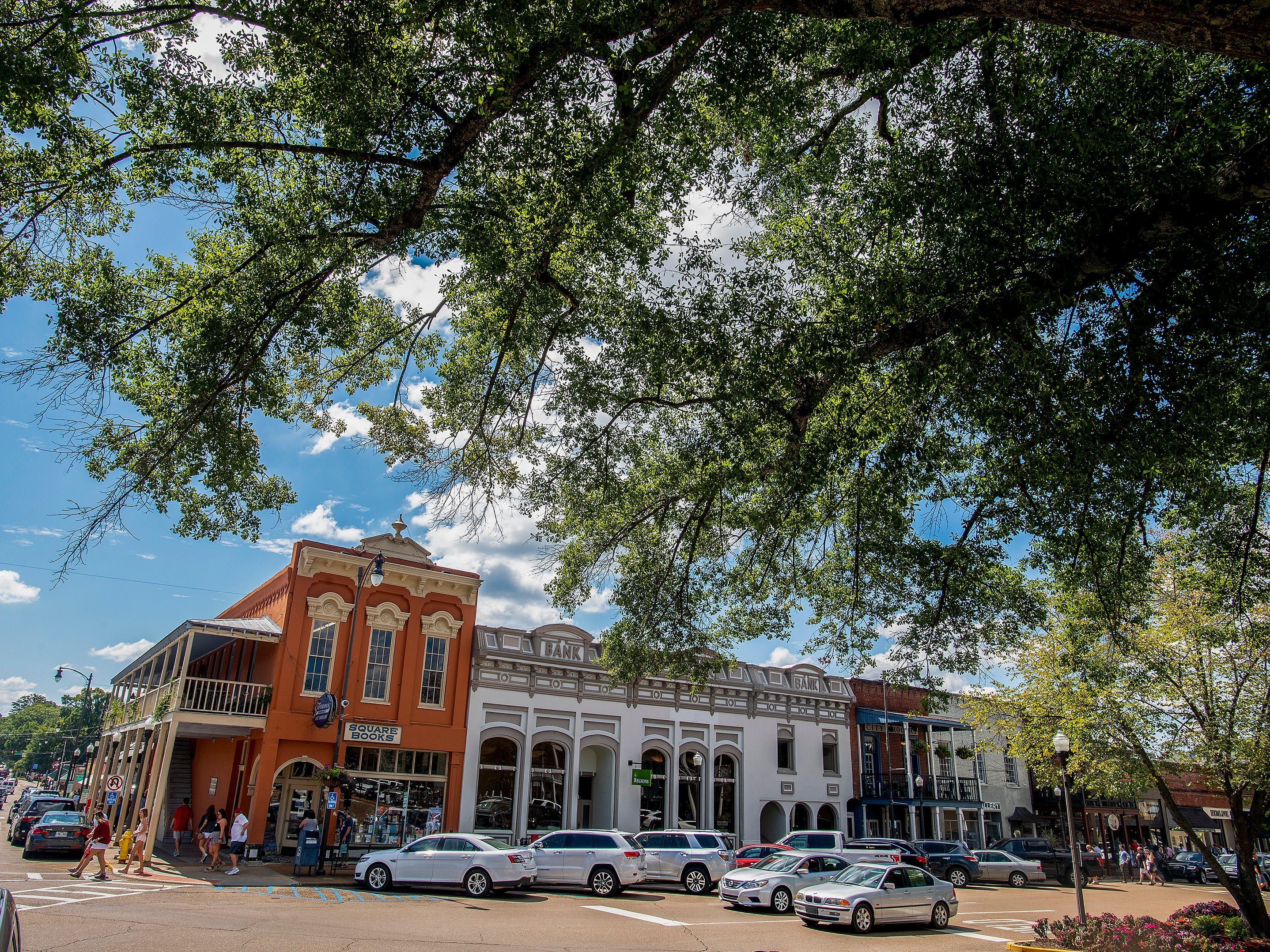 The Square in Oxford, Ms., on gameday Saturday September 15, 2018.