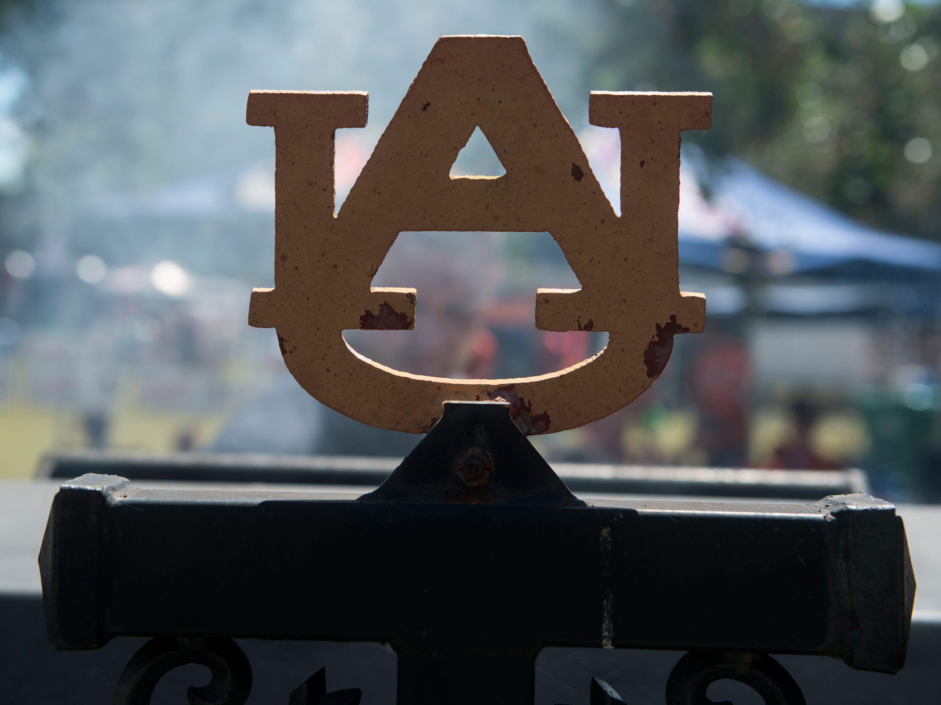 Jacob Vehrs cooks on his custom grill outside Jordan-Hare Stadium in Auburn, Ala., on Saturday, Sept. 15, 2018.