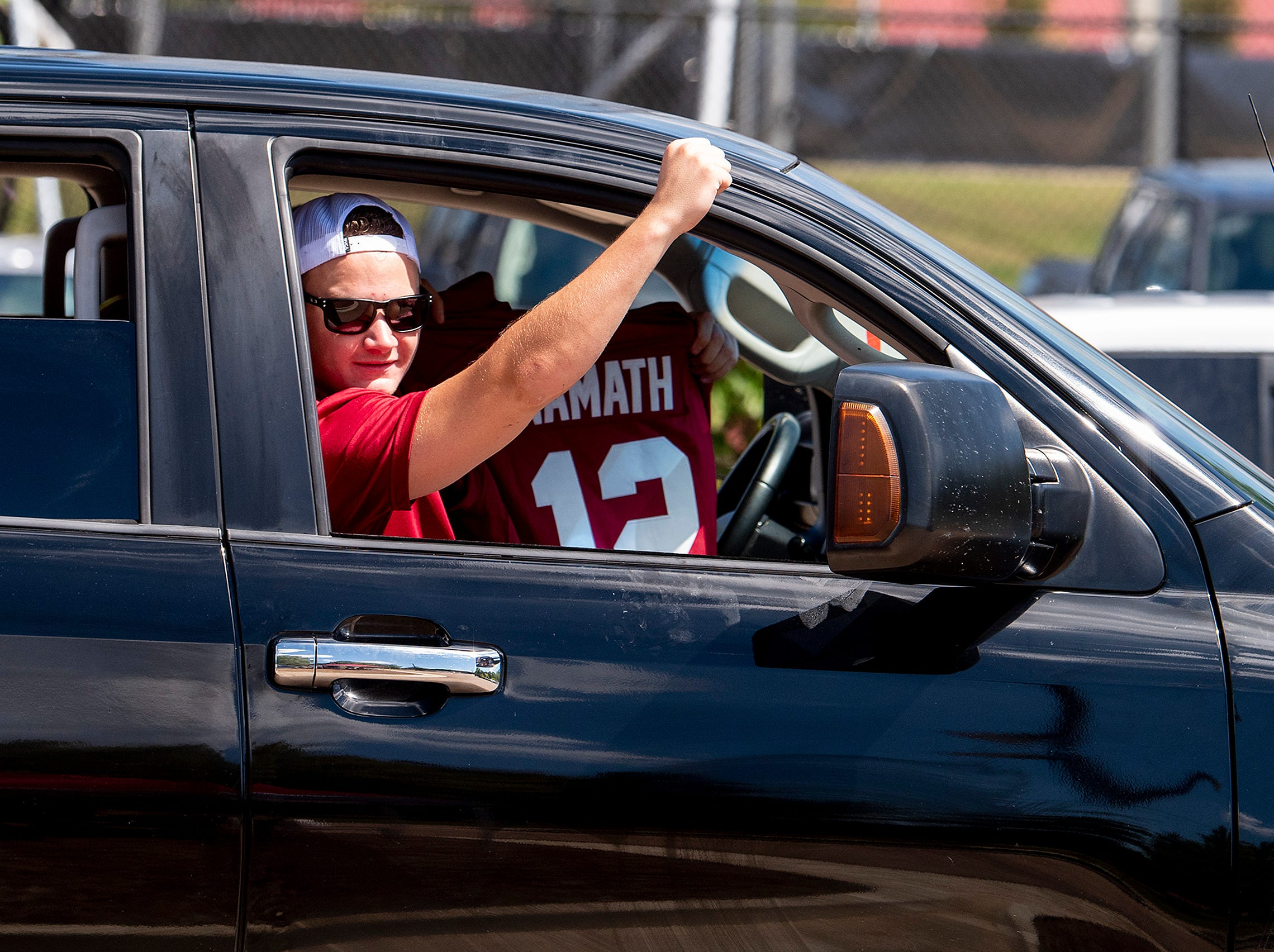 Alabama fans cruise through the Ole Miss campus in Oxford, Ms., on Saturday September 15, 2018.