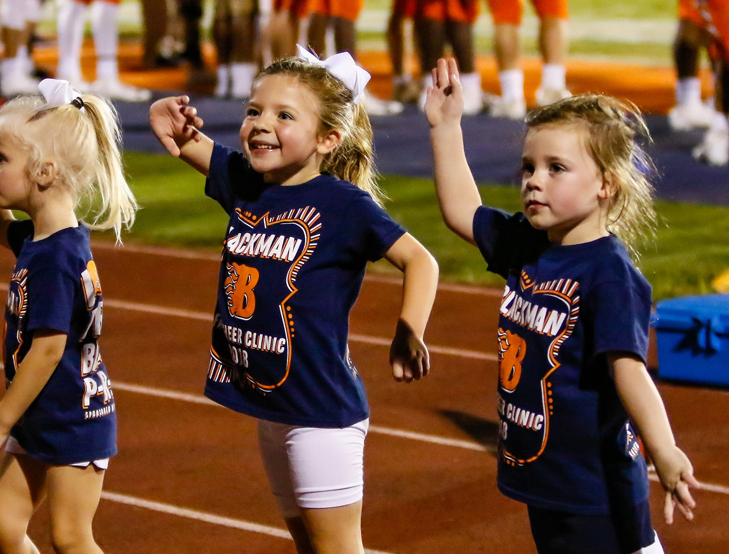 Special cheerleaders worked the sidelines at the Siegel-Blackman game.
