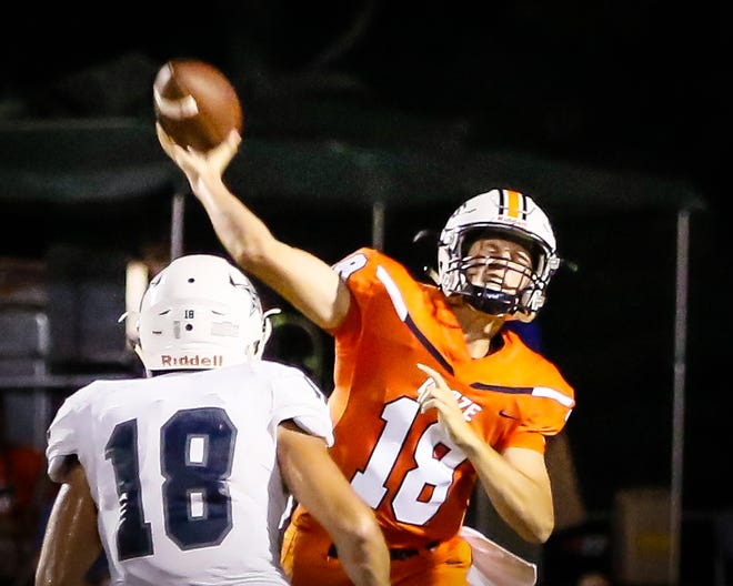 Blackman's Drew Beam was 79 of 141 passing for 1,484 yards with 16 touchdowns and six interceptions in 2018.