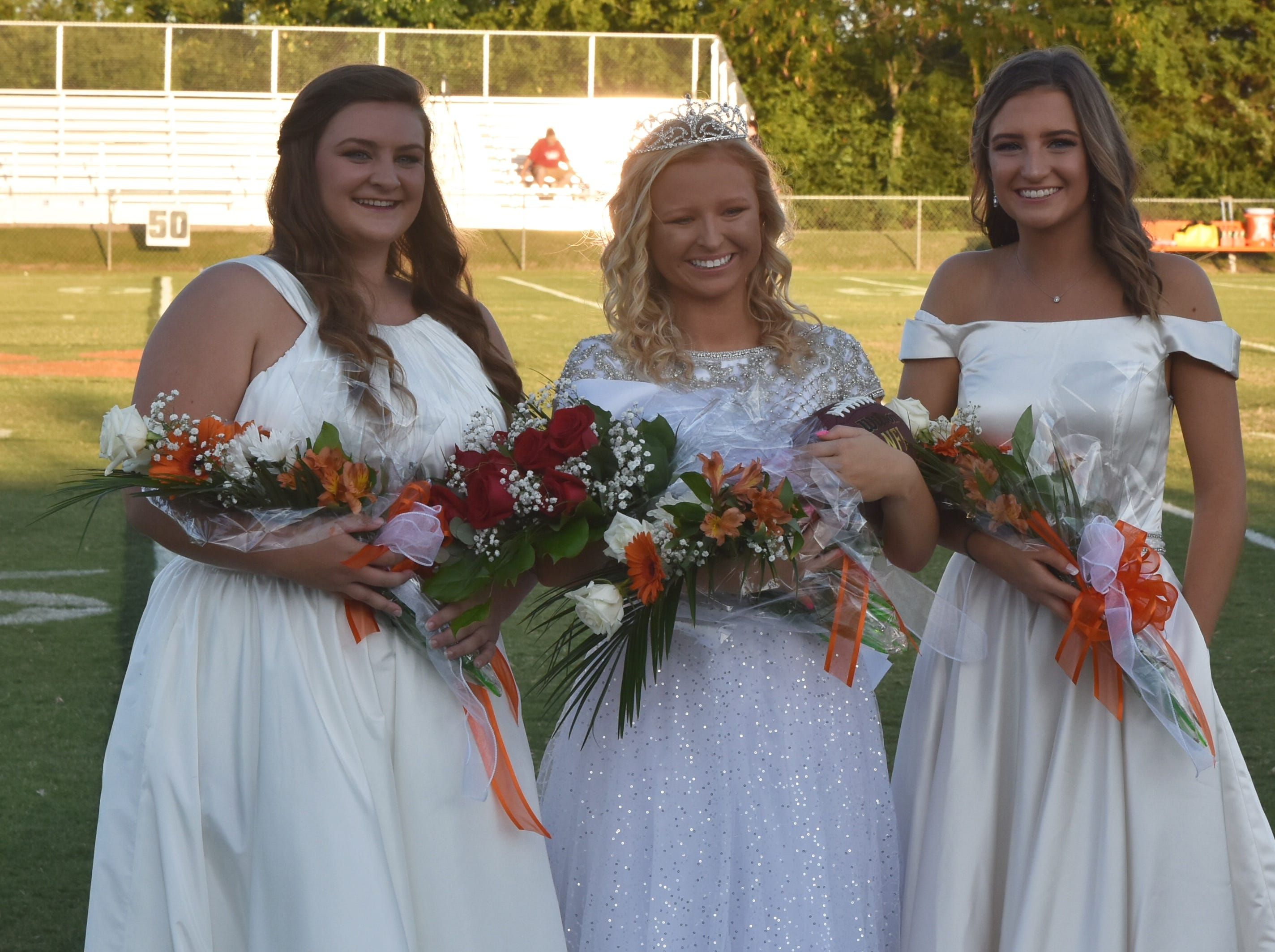 MTCS Senior Homecoming Court Friday night against Ezell-Harding.