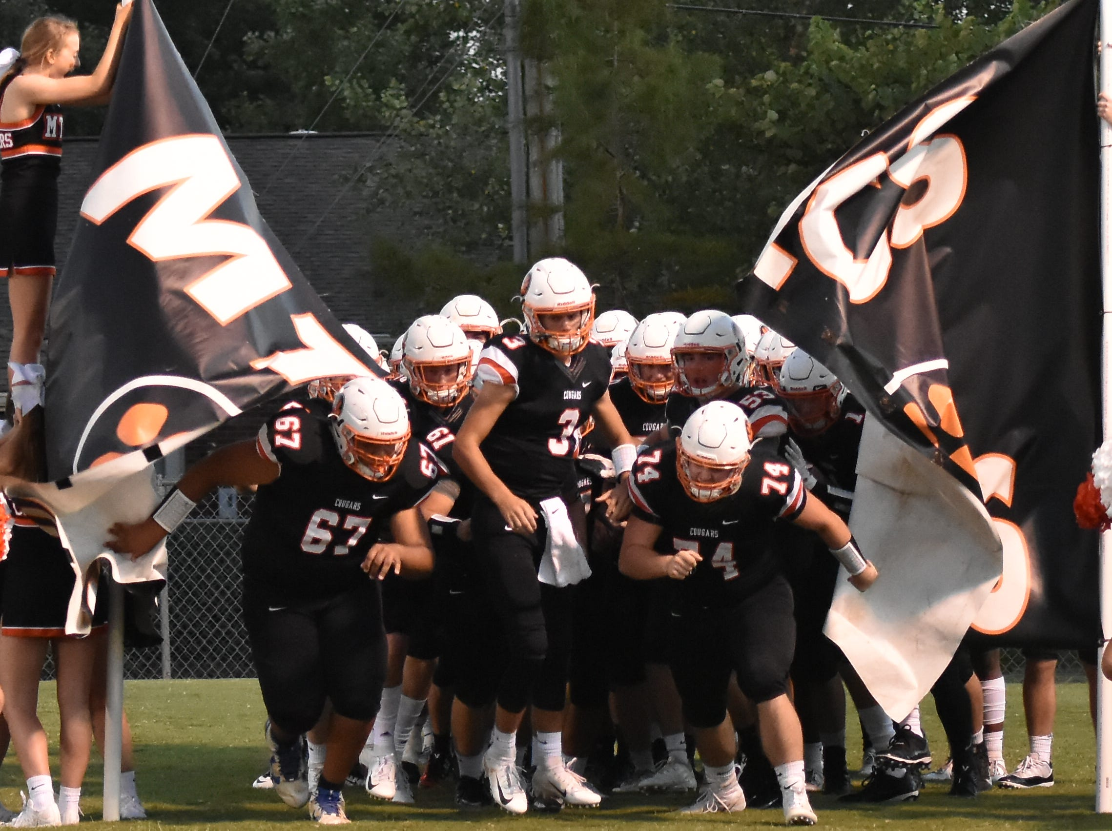 The MTCS Cougars take the field in their homecoming game Friday night against Ezell-Harding.