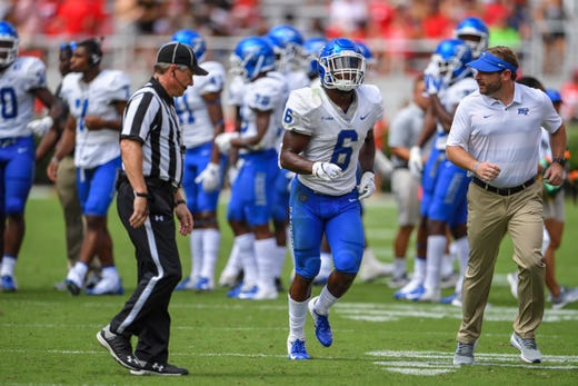 ad9ee8bfb08 MTSU football  Khalil Brooks disqualified for targeting call against ...