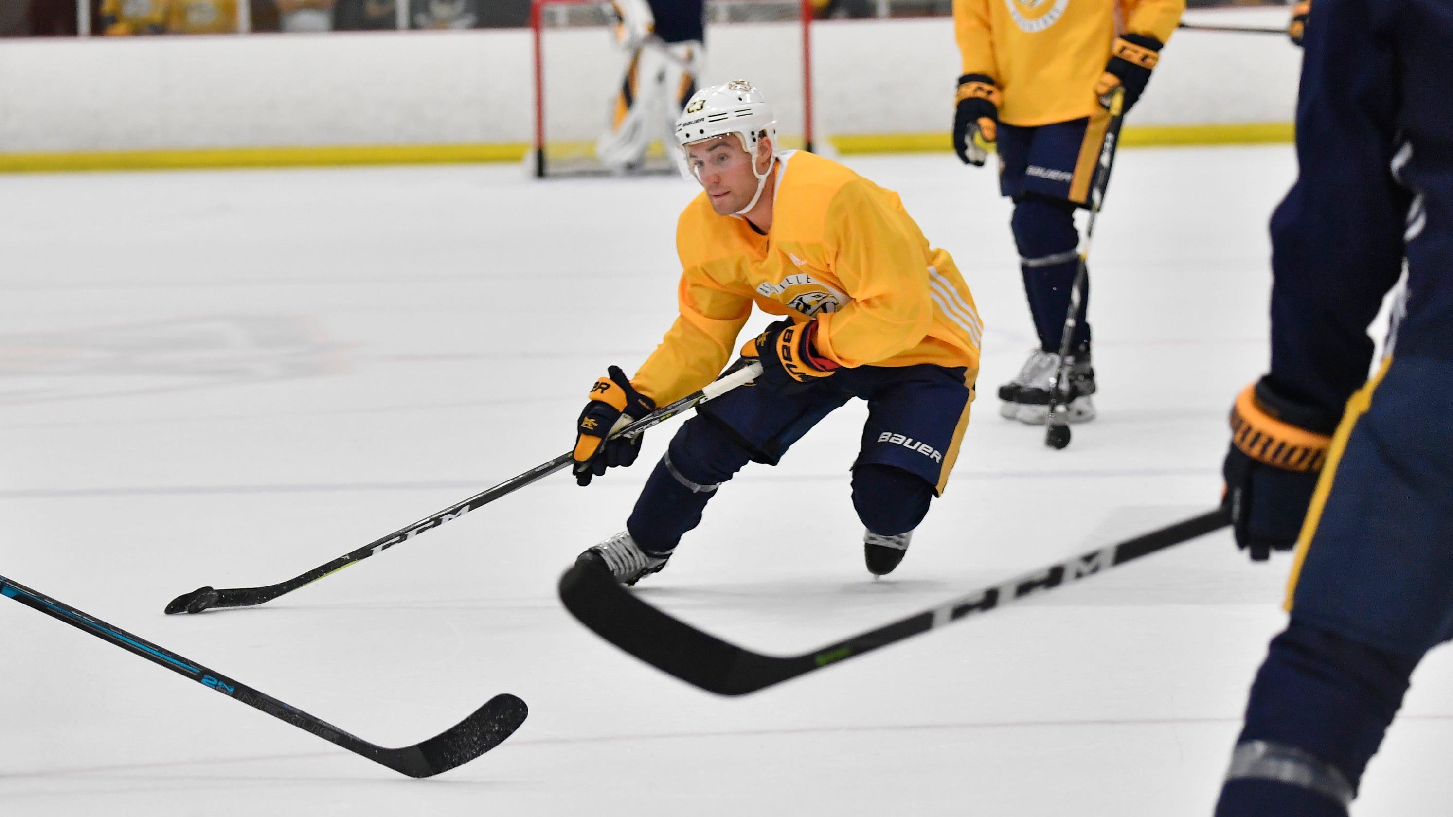 Preds player Grimaldi names his hockey sticks 99eef08fa