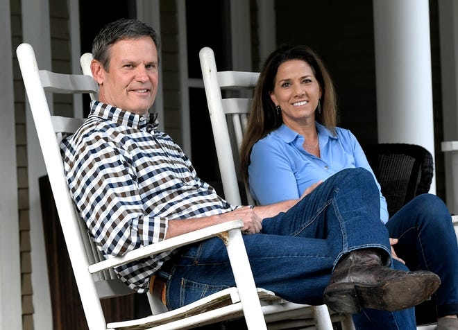 Bill Lee and his wife, Maria, spend time on their Williamson County farm Sept. 9, 2018.
