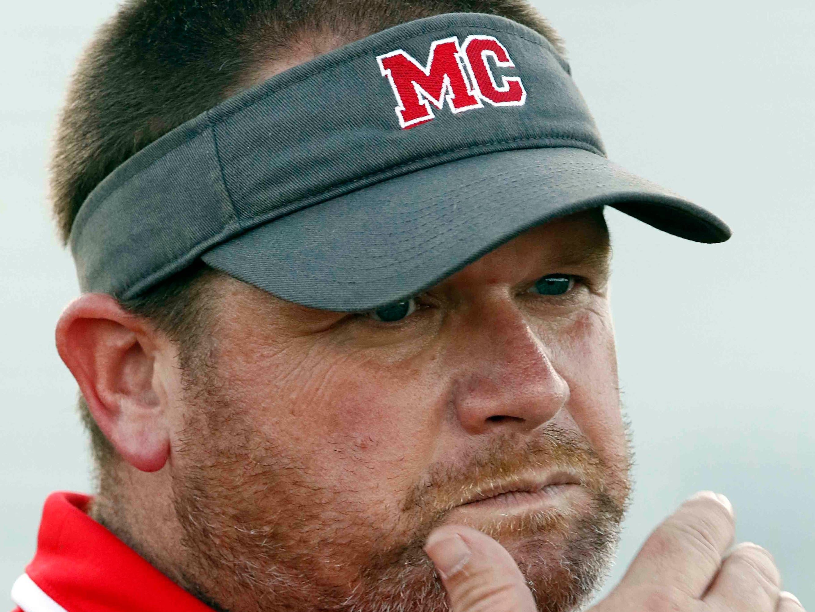 Montgomery Central head coach Jeffrey Tomlinson is seen before their game against Creek Wood Friday, Sept. 14, 2018, in Charlotte, Tenn.