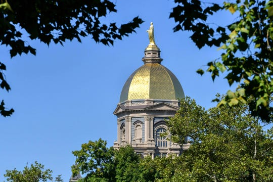 The Golden Dome on the campus of the University of Notre Dame
