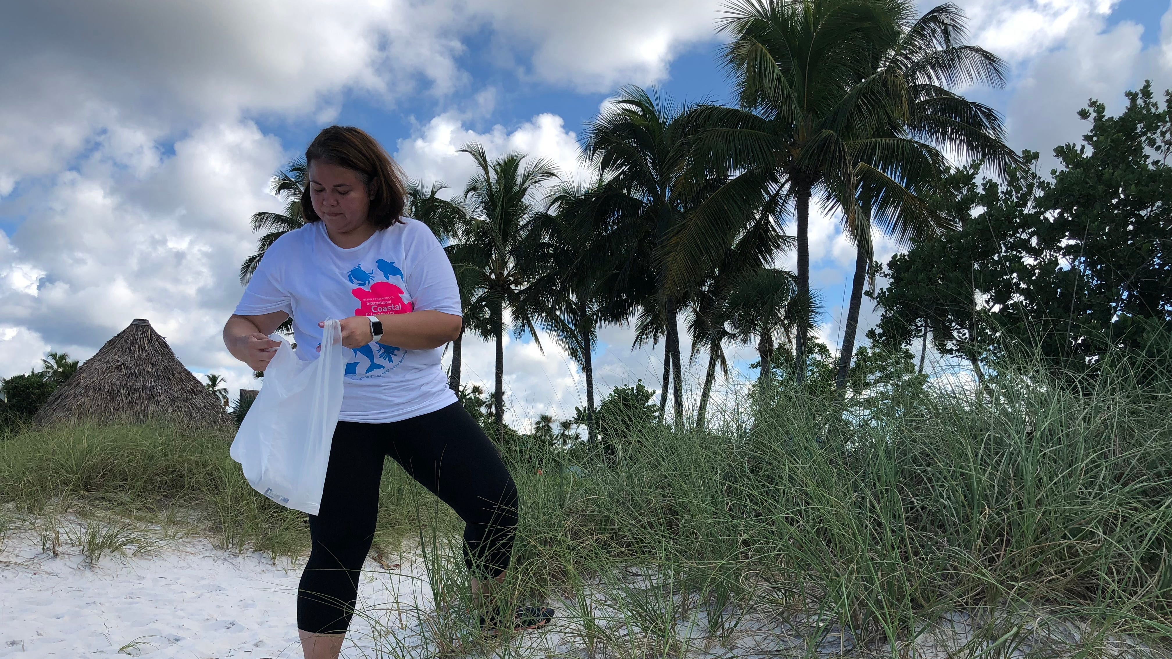 Volunteers, including about 120 Florida SouthWestern State College students, helped clean up shores and waterways at various sites, organizers said.