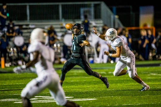 A first-year starter at quarterback, Gulf Coast's Justin Mattia leads Collier County in passing yards and touchdowns this season.