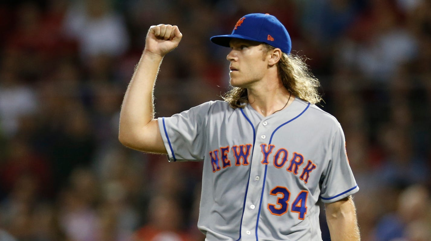 a129841eb82bd Noah Syndergaard silences Red Sox while Mets light up Boston pitchers
