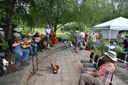 A band was playing at the Meadowlands Birding Festival in Lyndhurst, NJ.