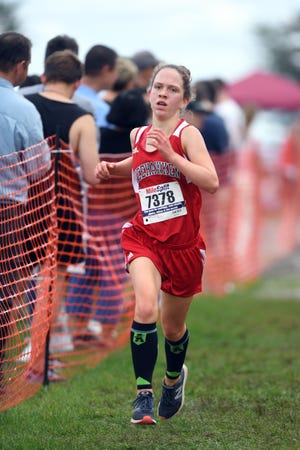 Garret Mountain Back To the Mountain meet on Saturday, September 15, 2018. Delaney Rice, of Weehawken.