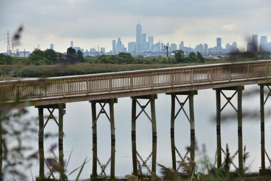 NYC views from the Meadowlands Environment Center in Lyndhurst, NJ.