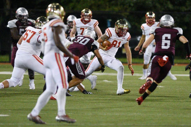 Tyler Devera (81) is Bergen Catholic's leading receiver heading into the showdown against visiting Don Bosco Prep on Saturday, Sept. 22.