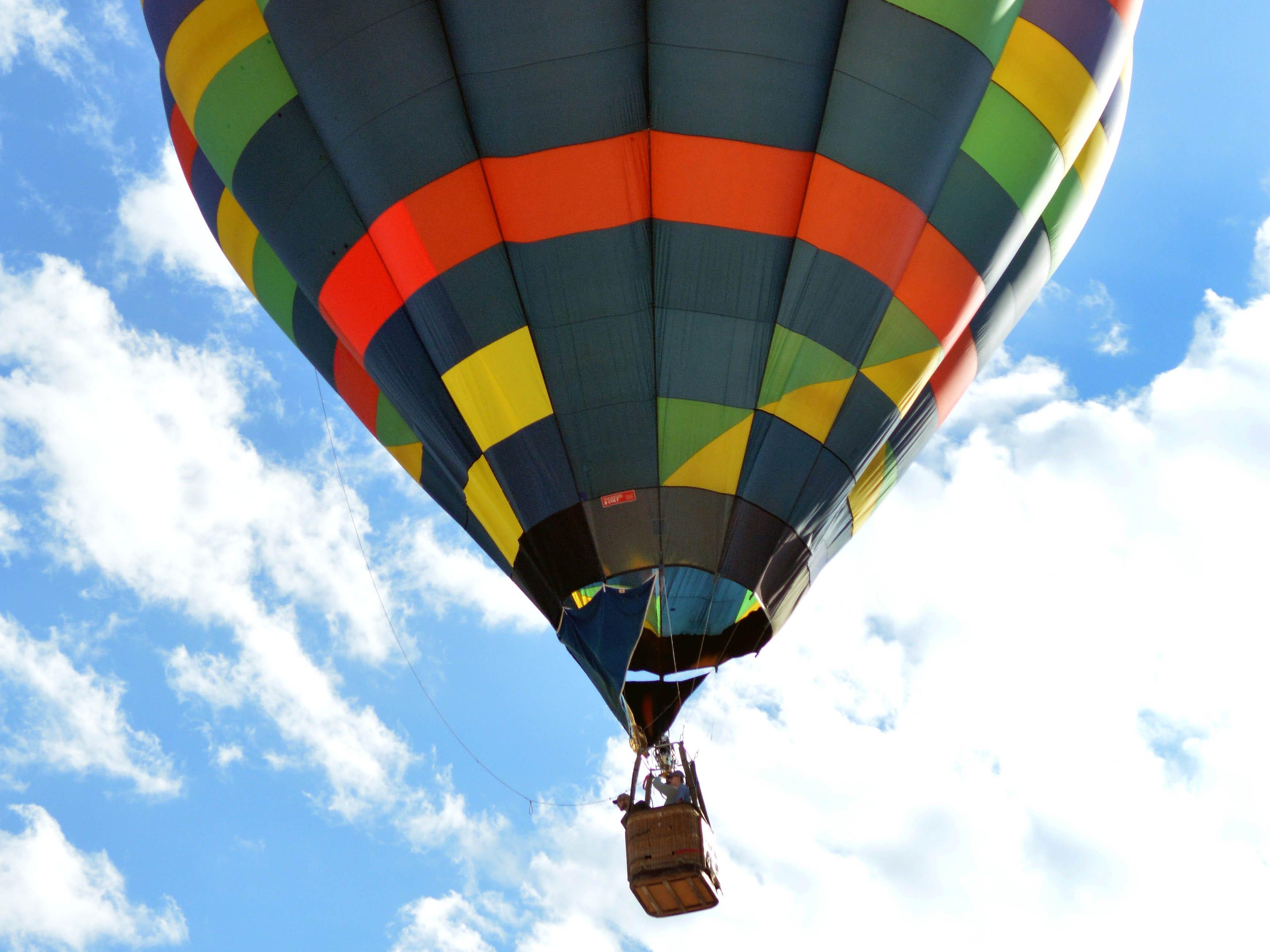A hot air balloon takes flight Saturday, Sept. 15, 2018 at the White Sands Balloon Invitational.