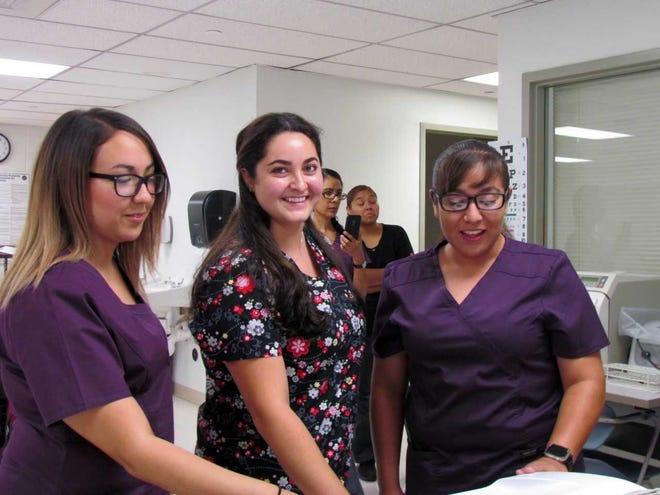 Doña Ana Community College electrocardiogram technician students.
