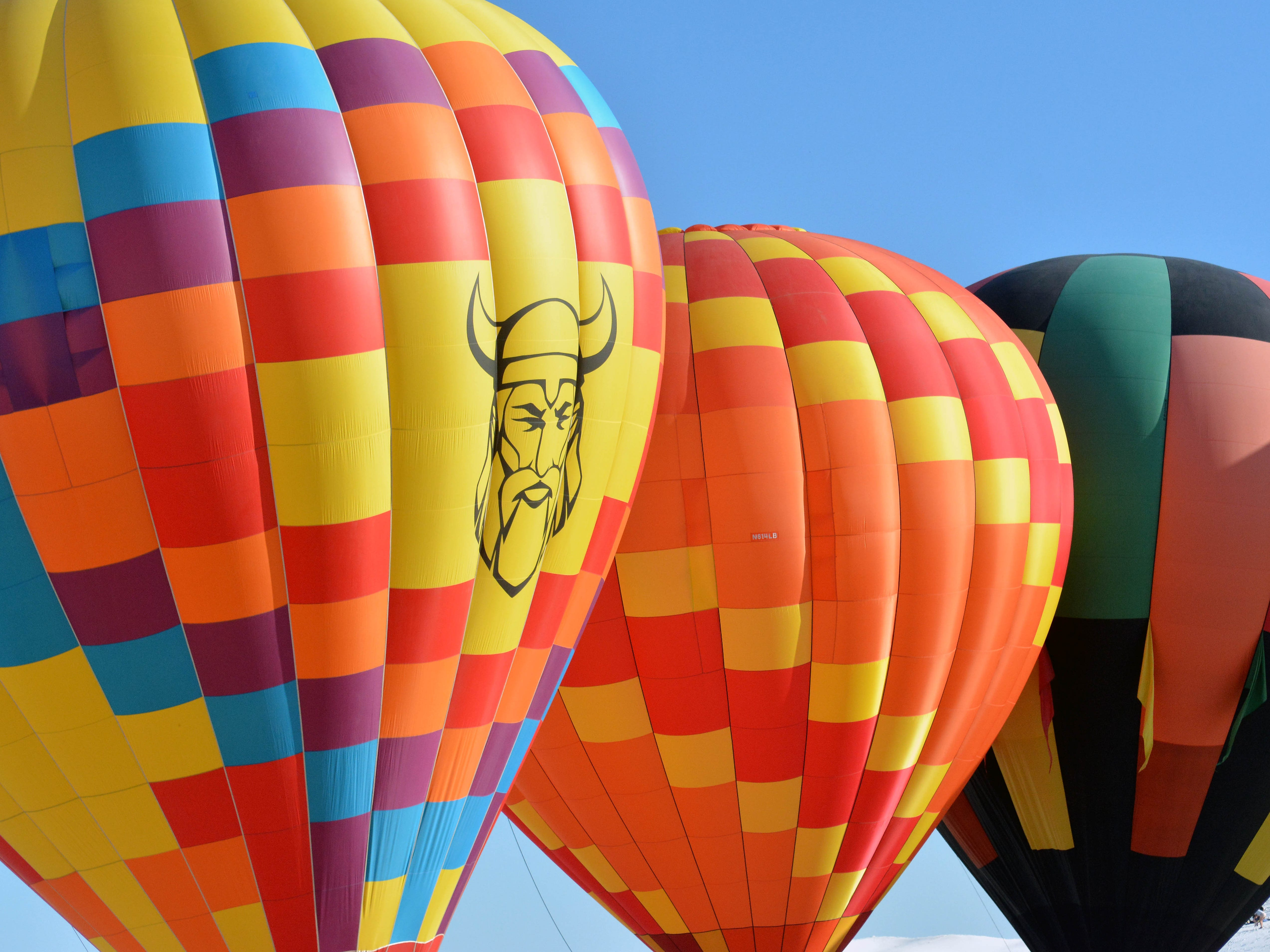 Hot air balloon prepare to take off Saturday, Sept. 15, 2018 at the White Sands Balloon Invitational.