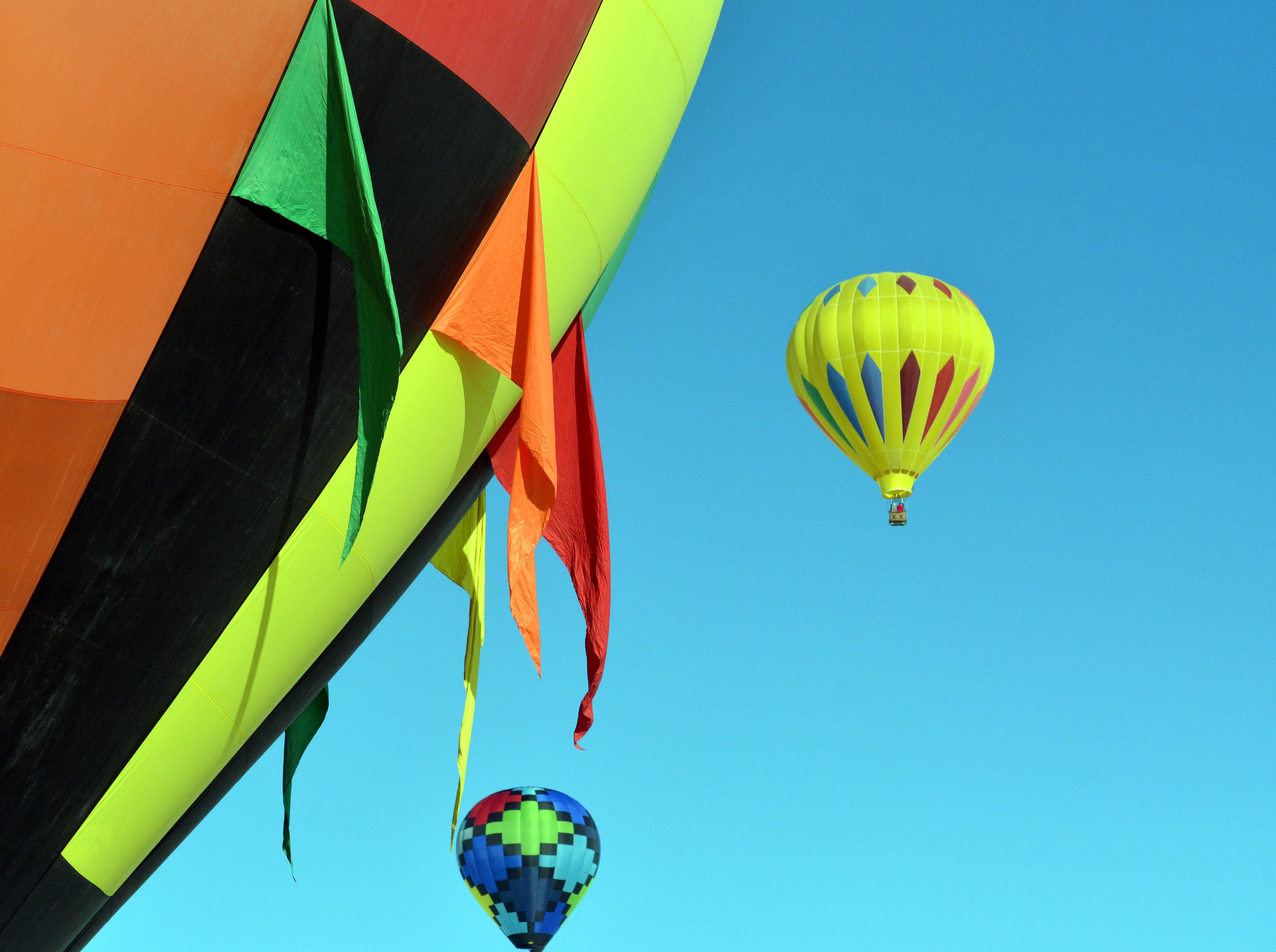 Hot air balloons take flight Saturday, Sept. 15, 2018 at the White Sands Balloon Invitational.