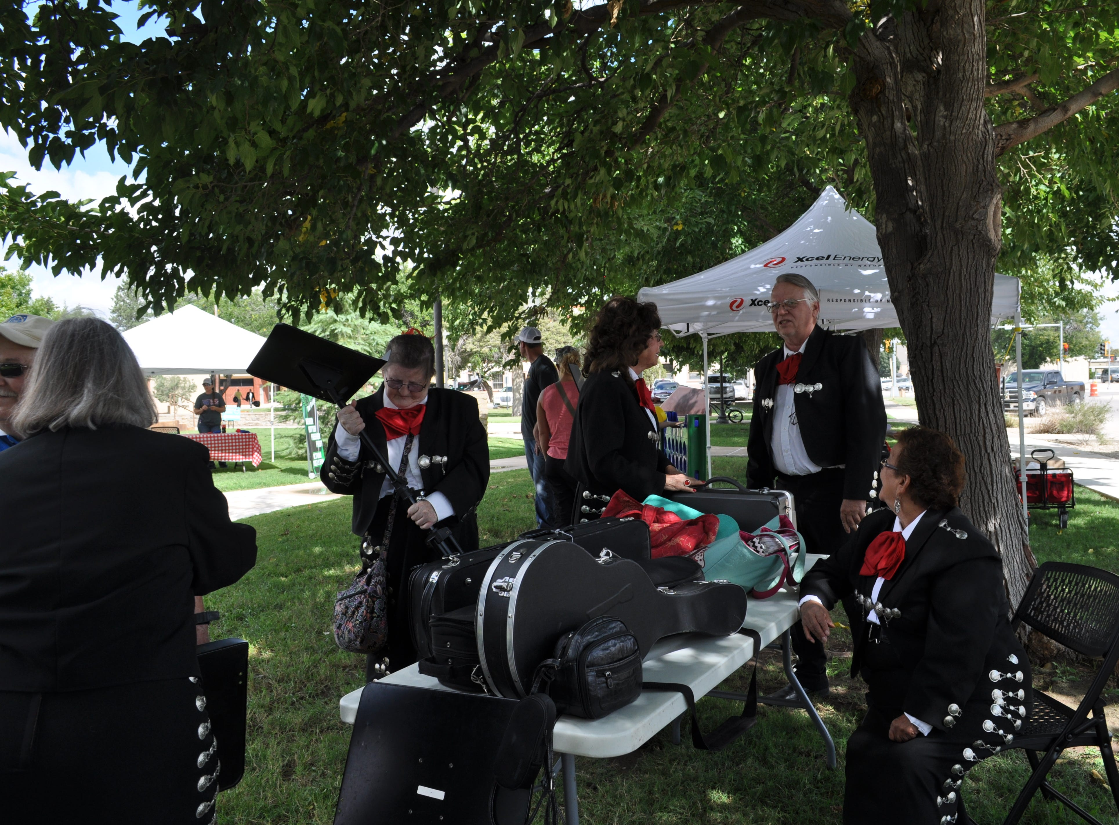 A mariachi band waits in the wings at the  annual Heritage Fest Sep. 15.