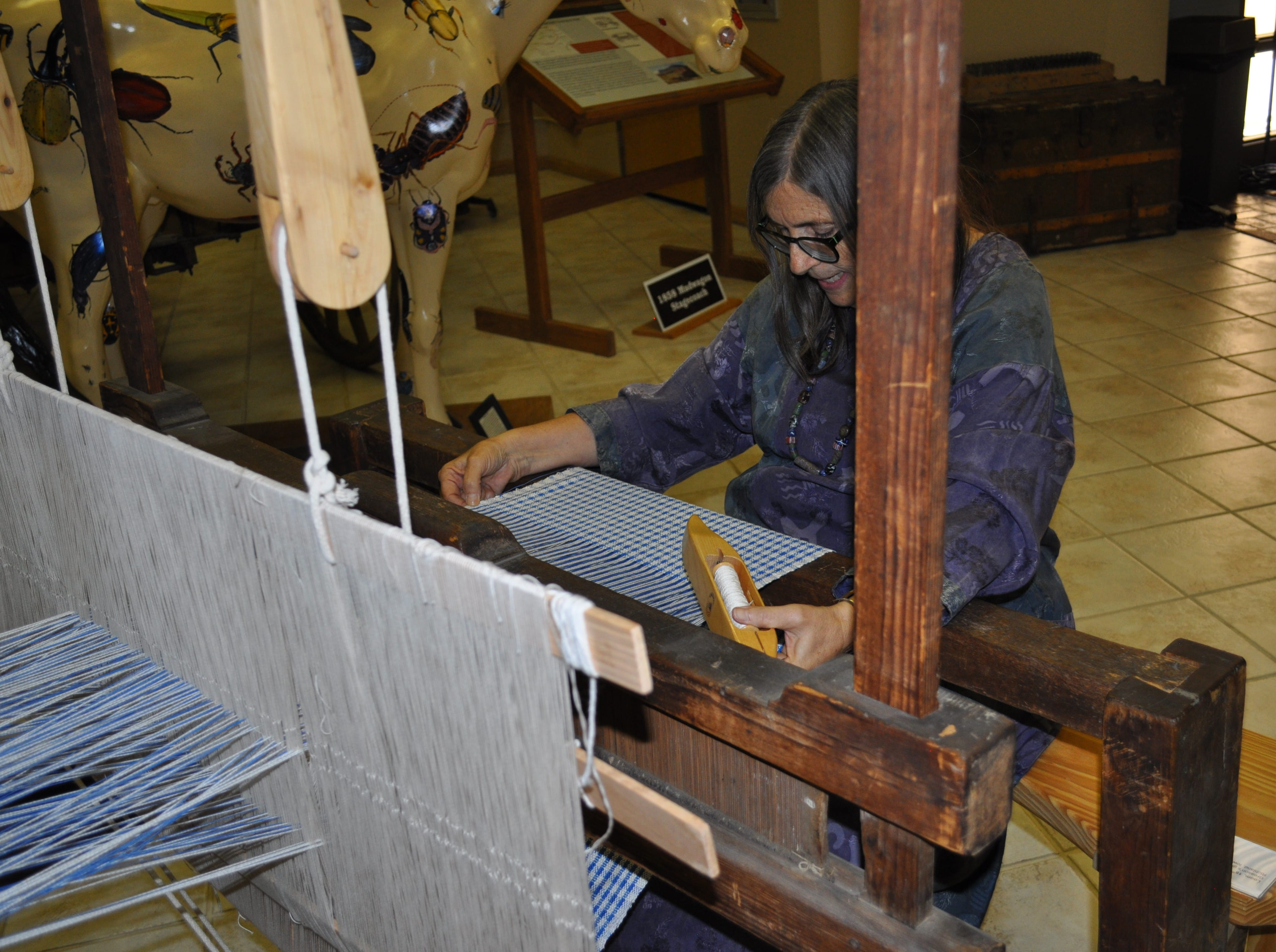 A loom demonstration was among the activities offered at the annual Heritage Fest Sep. 15.